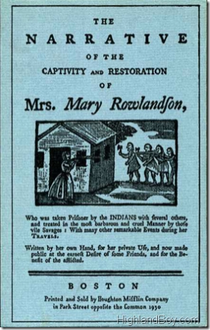 the captivity of mary rowlandson
